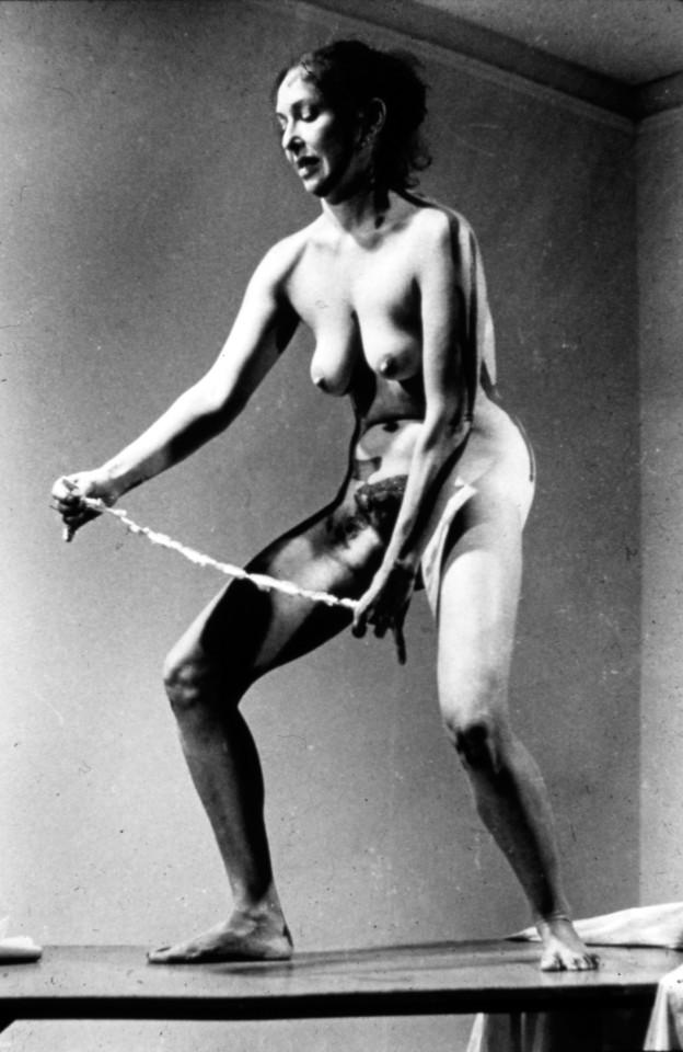Carolee Schneemann, Interior Scroll , 1975. Courtesy: The Artist. Photo:  Antony McCall