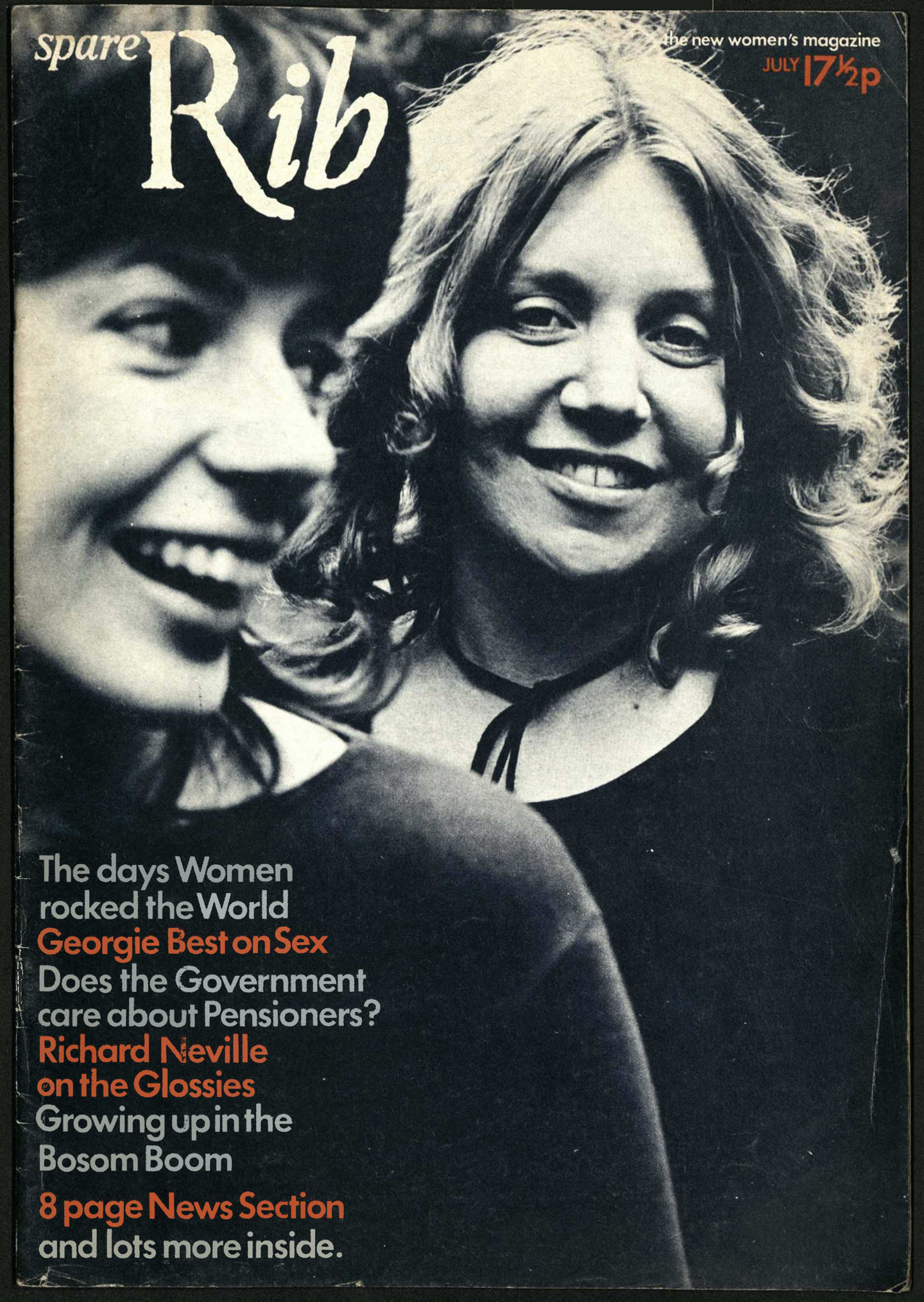 Rosie Boycott and Marsha Rowe, Spare Rib, Issue 1, July 1972