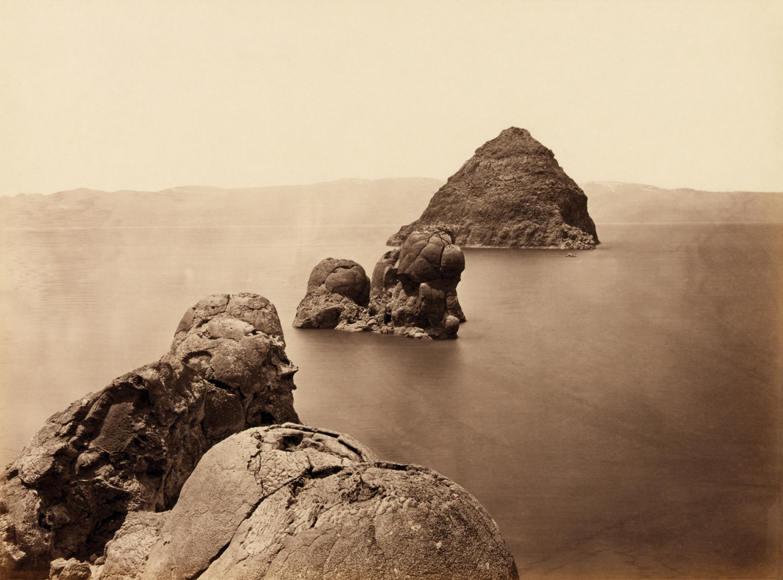 Timothy O'Sullivan, The Pyramid and Domes, Pyramid Lake, Nevada, 1867. Courtesy: Library of Congress Prints and Photographs Division, Washington D.C.