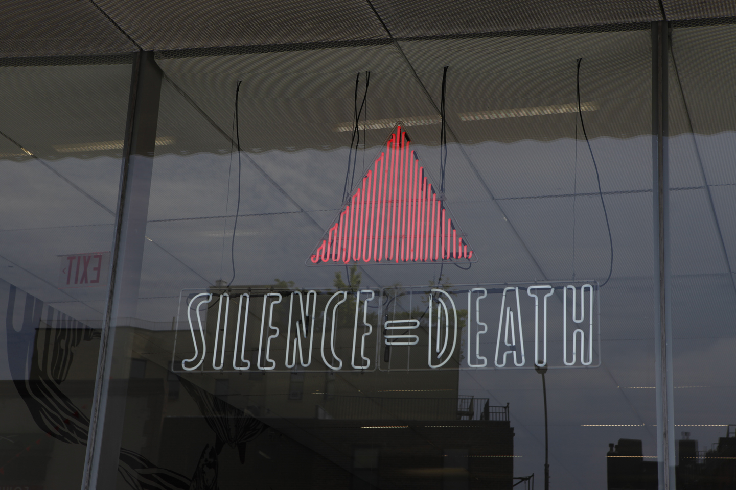 ACT UP (Gran Fury), ACT UP (Gran Fury) SILENCE=DEATH installation view at New Museum, New York, 2012. Collection New Museum of Contemporary Art, New York; William Olander Memorial Fund. Courtesy: New Museum, New York. Photo: New Museum