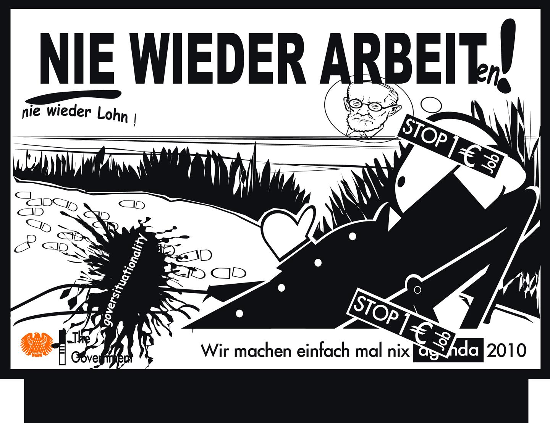 Andreas Siekmann, Trickle Down. Der öffentliche Raum im Zeitalter seiner Privatisierung, 2007. Courtesy: Galeria Barbara Weiss, Berlin