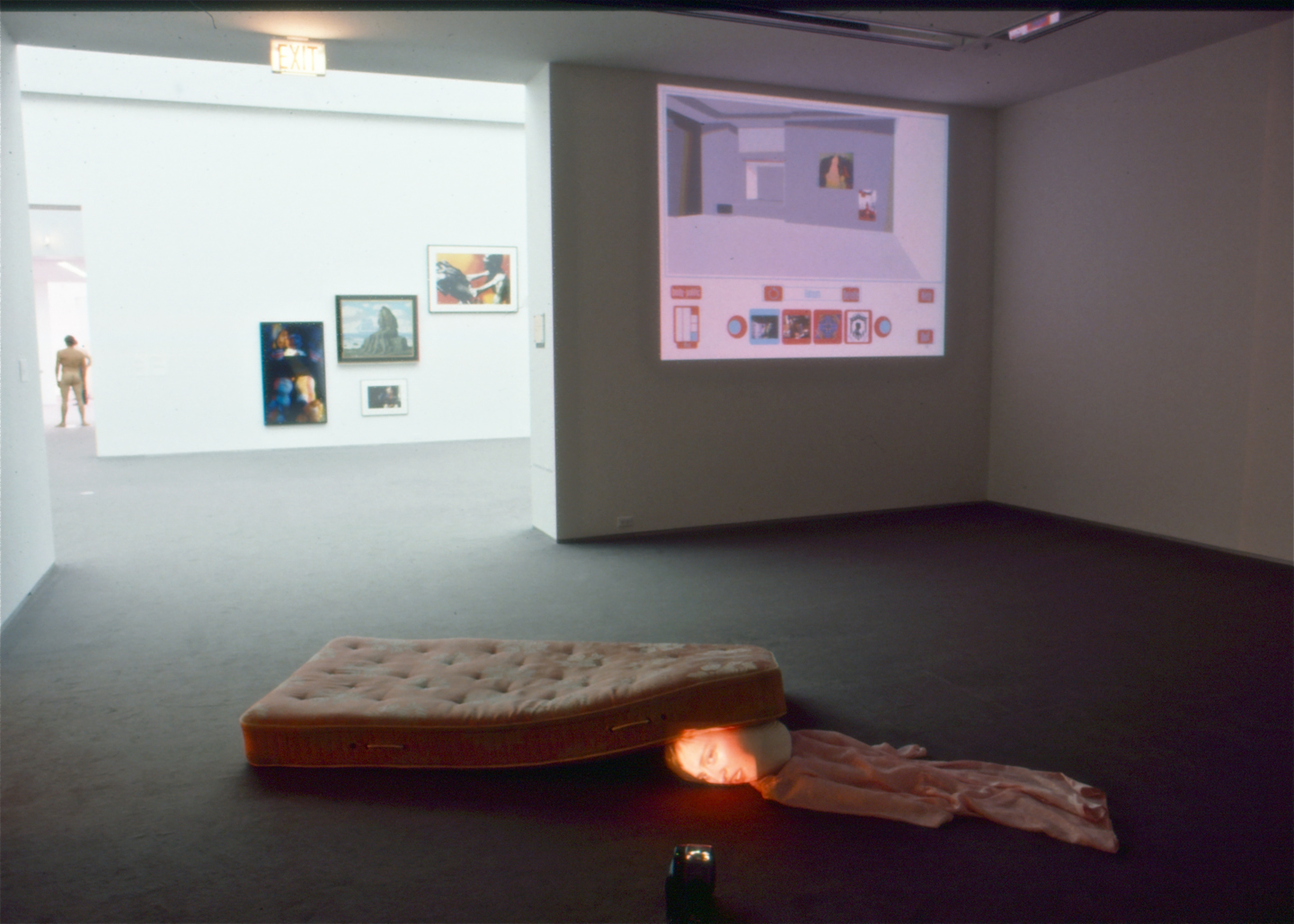 Virtual Curator interactive program in Transmute, installation view at Museum of Contemporary Art, Chicago, 1999. Courtesy of the Museum of Contemporary Art, Chicago
