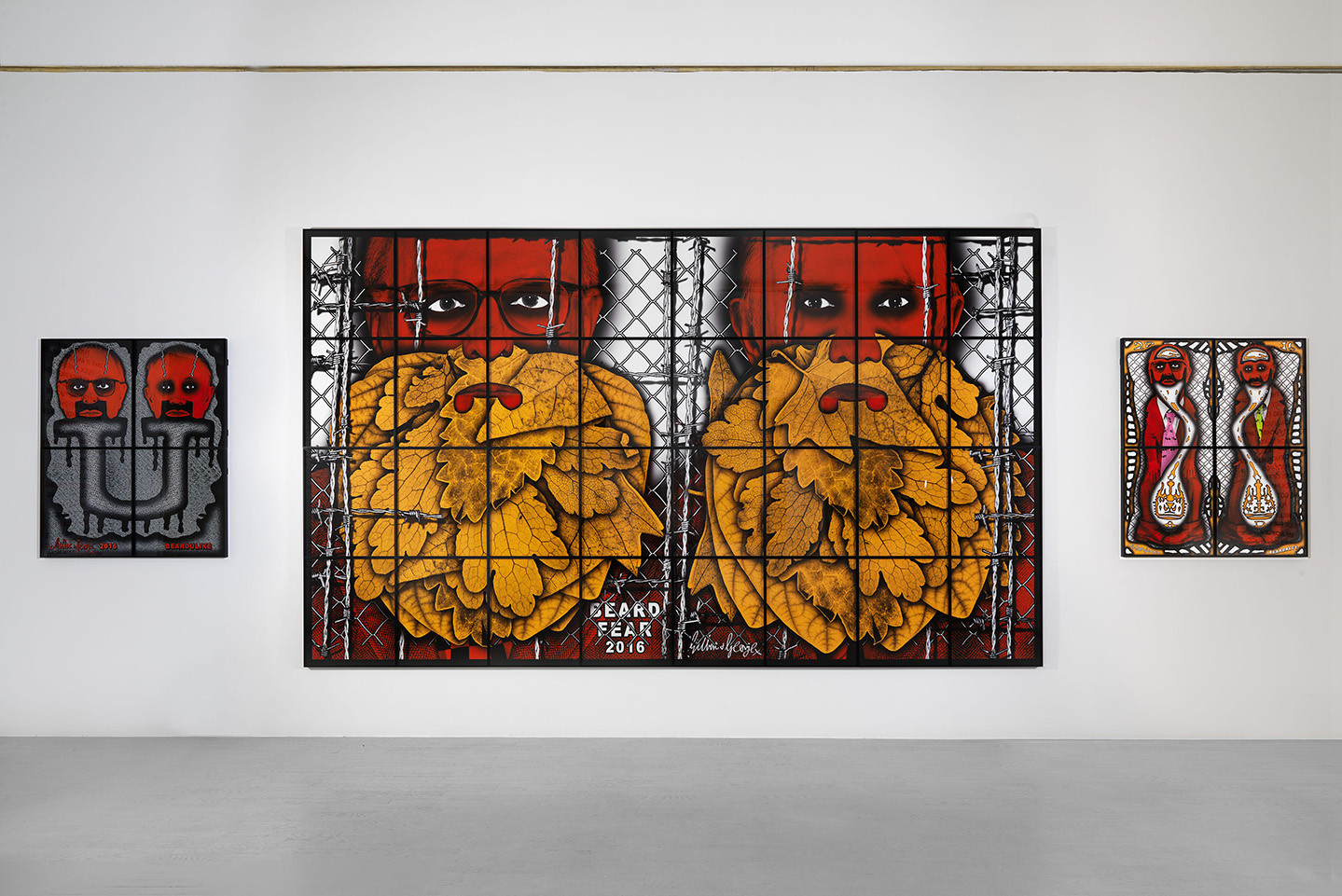 Gilbert George The Beard Pictures At Galleria Alfonso Artiaco  # Muebles Luciano