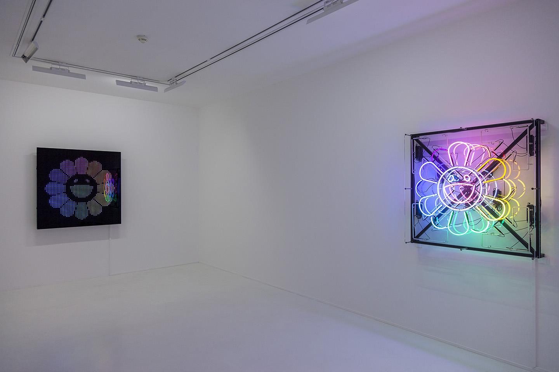 "4dd9ccc99ae Takashi Murakami and Virgil Abloh ""TECHNICOLOR 2"" at Gagosian, Paris, 2018.  Courtesy: the artists and Gagosian, Paris Photo: Zarko Vijatovic"