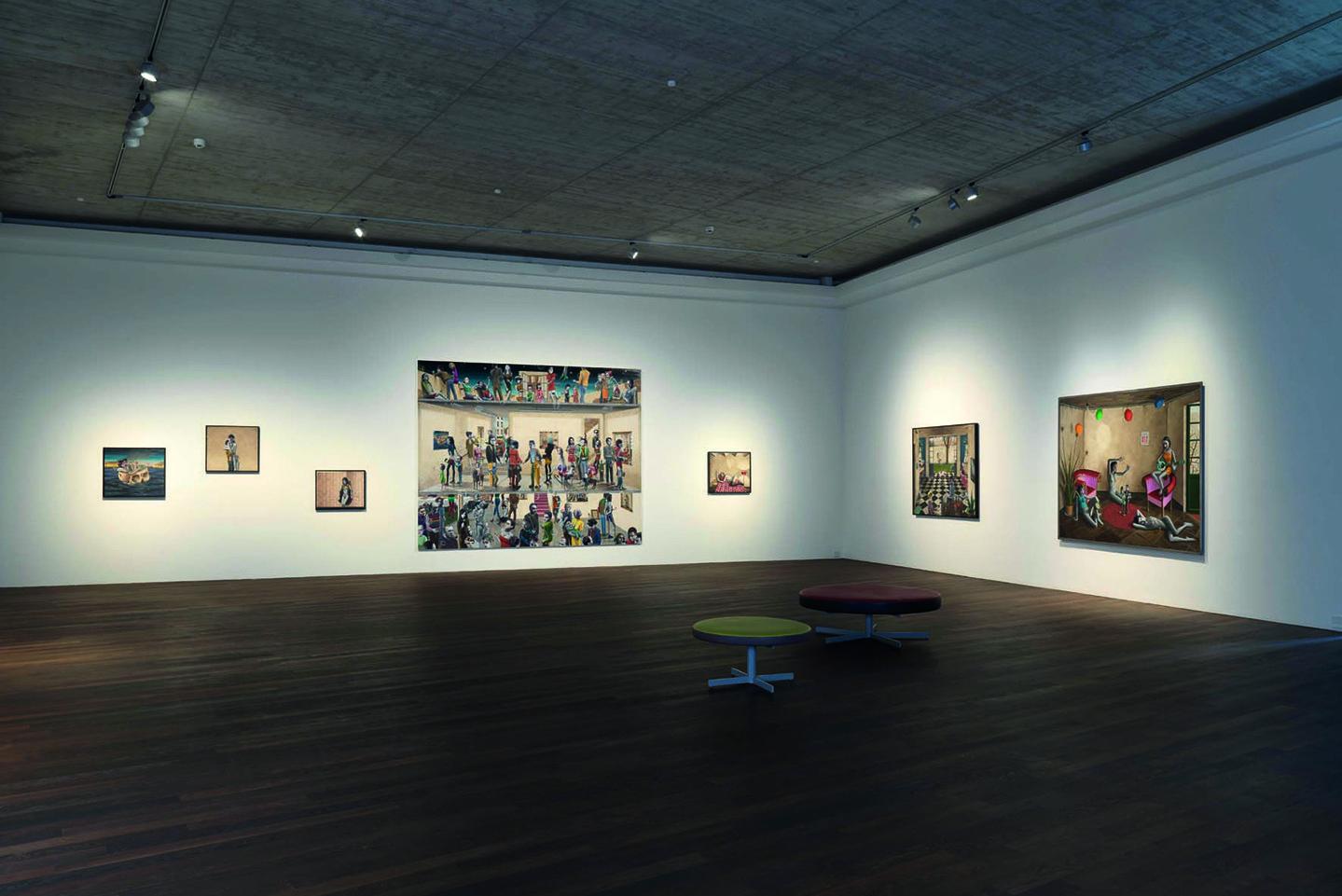 Gino Rubert Installation View At Galerie Michael Haas, Berlin Gallery  Weekend, 2017 © Galerie Michael Haas, Berlin. Photo: Lea Gryze