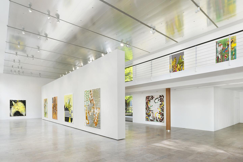 Charline Von Heyl Installation View At Capitain Petzel, Berlin, Berlin  Gallery Weekend 2017 © The Artist. Photo: Jens Ziehe