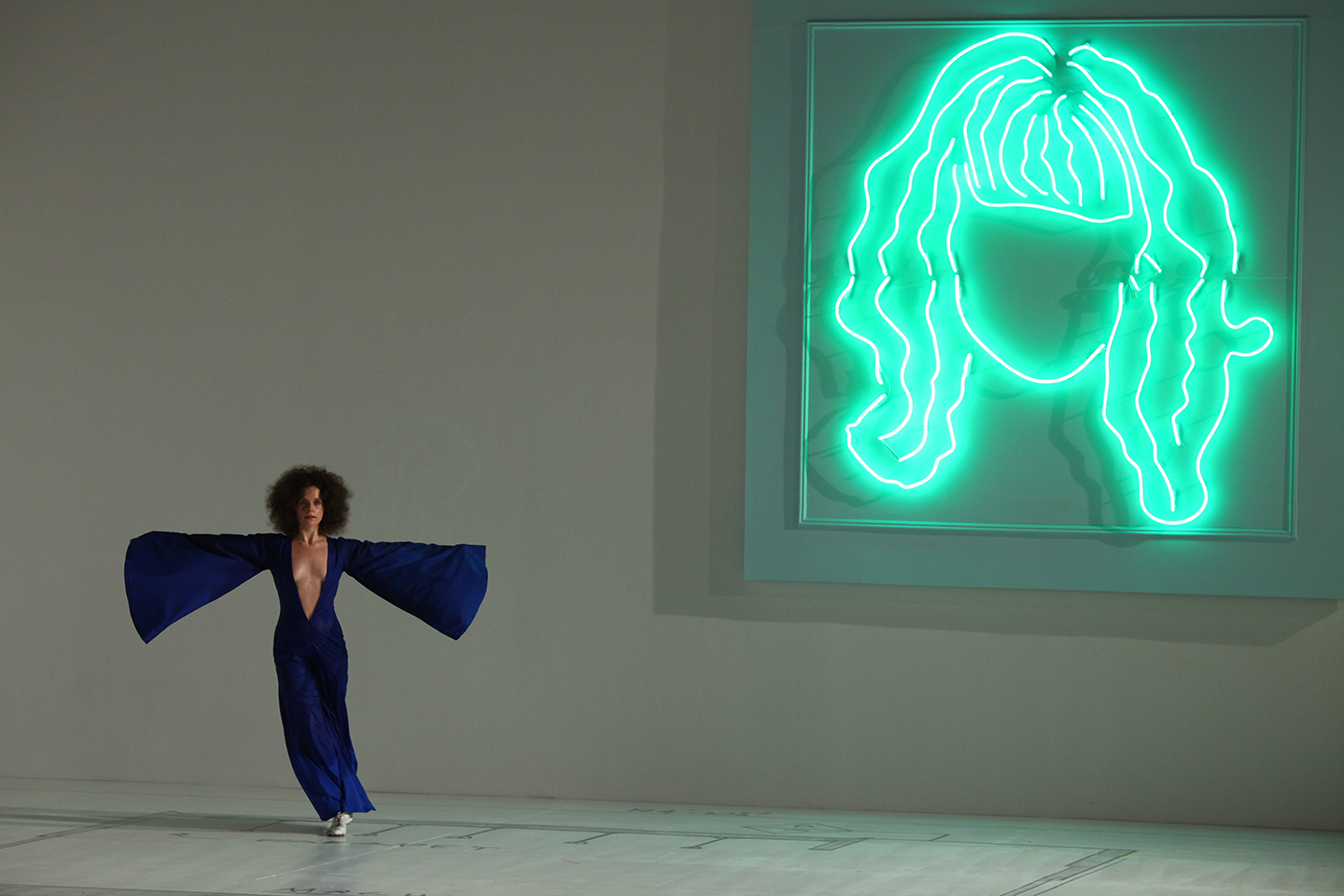 Sarah Michelson, Devotion Study #1 — The American Dancer, February 26, 2012 at 2012 Whitney Biennial. Photo: Paula Court