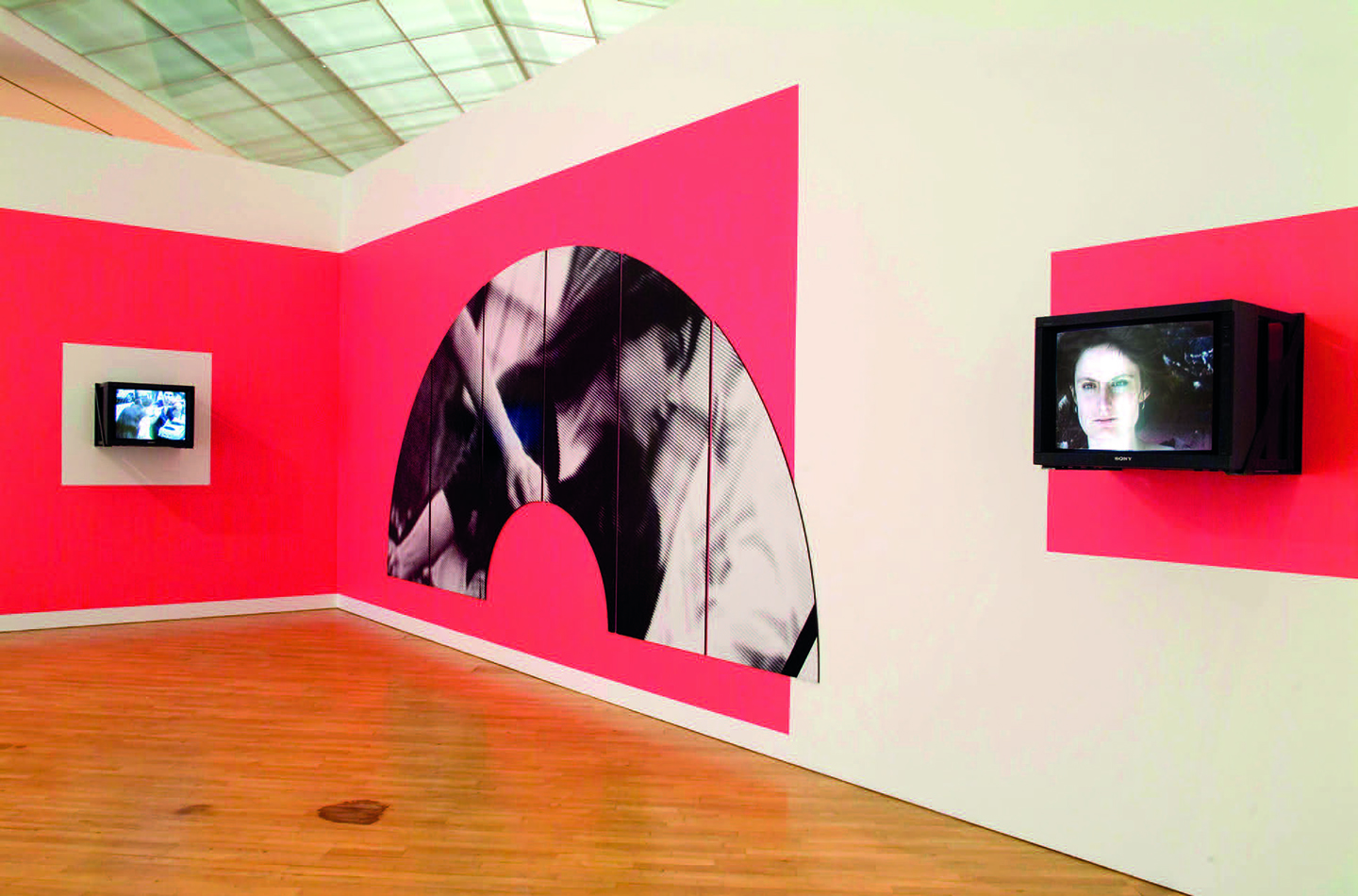 Dara Birnbaum, Damnation of Faust, 1984, installation view, S.M.A.K., Ghent, 2009. Courtesy: the artist and Marian Goodman Gallery, New York/Paris