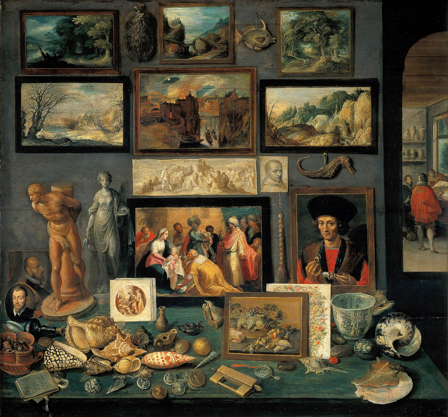 Frans Francken, Chamber of Art and Curiosities, 1636